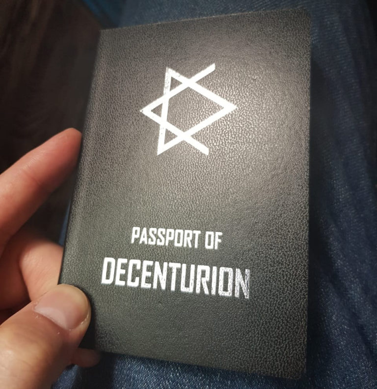 PASSPORT OF DECENTURION